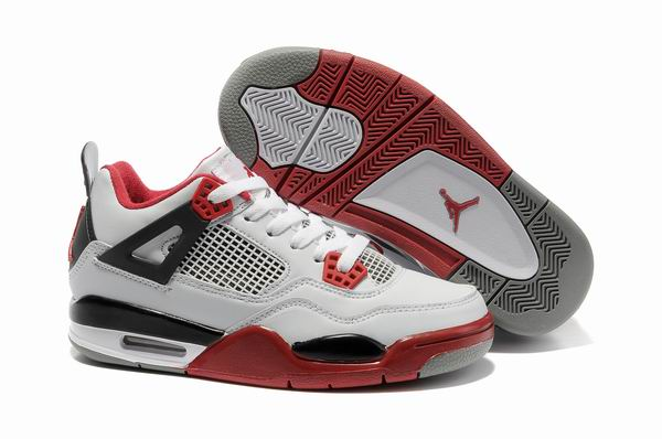 Womens Air Jordan 4 Shoes Red/White/Black